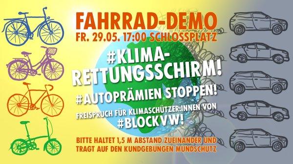 Aufruf zur Fahrraddemo am 29.5.2020 in Braunschweig